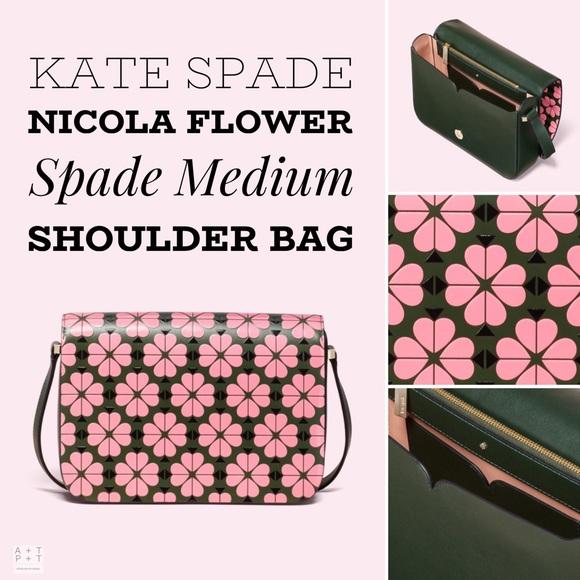 aa40161ba219 kate spade Bags | Nicola Flower Spade Medium Shoulder Bag | Poshmark